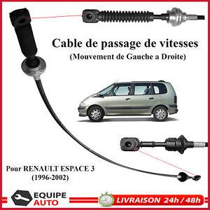 CABLE DE SELECTION VITESSES pour RENAULT ESPACE III - 3 - COMMANDE DE VITESSE