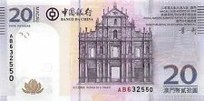 Macau 20 Patacas 2008 Unc Pn 109