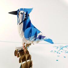 Blue Jay pop-up greeting card (Bird,beautiful & unique gift/decor/art)