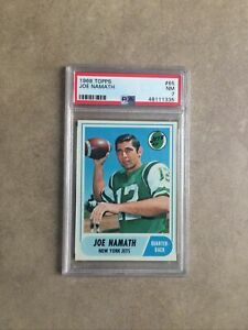 1968 Topps Football Joe Namath PSA 7 NM