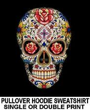 SUGAR SKULL DAY OF THE DEAD Dia De Los Muertos GOTH ROSES HOODIE SWEATSHIRT WS94