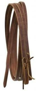 """5/8"""" x 8' Western Leather Split Reins! MADE IN THE USA! NEW HORSE TACK!"""