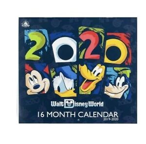 Walt Disney World 2019-2020 16 Month Wall Calendar Collectible Full Color Mickey