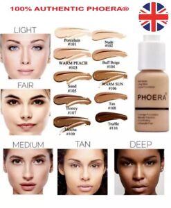 PHOERA Foundation Concealer Makeup Full Coverage Matte Brighten long lasting UK~