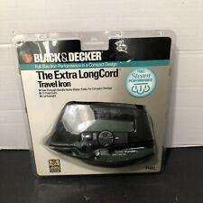 Black & Decker The Extra LongCord Travel Iron F48KL, New Old Stock