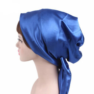 Women Soft Sleeping Chemo Hats Cancer Head Scarves Chemotherapy Alopecia Caps 6A