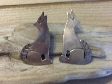 Mexico Taxco Stamped Coyote Post Sterling Silver 925 Pierced Earrings