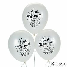 Just Married Balloons 12 Piece Wedding Decoration