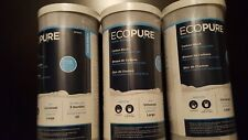 3- EcoPure Universal Fit Carbon  Whole Home Water Filters Fits Most Major EPW4C