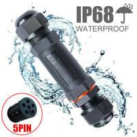 5 Polig Wasserdicht Kabelverbinder IP68 Erdkabel Kabelmuffe Verteilerdose 450V