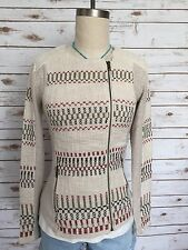 LUCKY BRAND Embroidered Moto Jacket Jacquard Cotton Geometric Size XS MSRP $119