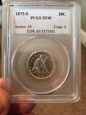 1875 Twenty Cent Piece XF-45 PCGS