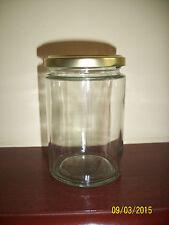 GLASS JARS 370ml IDEAL FOR HONEY, JAM, MARMALADE MAKING X 24