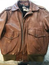Schott G-1 Leather Bomber Jacket with Liner Men's 38 Made In USA