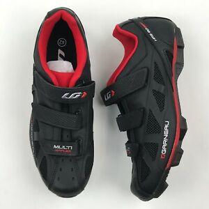 Louis Garneau Women Black/Red Multi Airflex Cycling Shoes sz 9 NEW