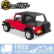 Bestop Header Bikini Safari 04-06 Jeep Wrangler Unlimited LJ Black 52544-35