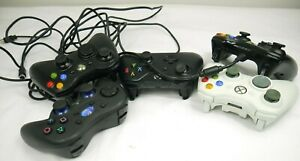 Microsoft Xbox 360 Official Bundle of 4  +1 Logitech PS3 Controllers For Parts