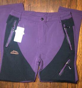 Direnjie Outdoor Brand Magcomsen Womens 3XL Snow Pants Purple Black NWT Hiking