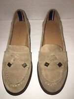Tommy Hilfiger Norma Women's Taupe Suede Leather Tassel Loafer Size 7.5M