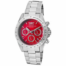 Invicta Men's 14380 Speedway Chronograph Red Dial Stainless Steel Bracelet Watch