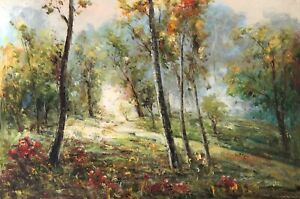 Country Road, Original Oil Painting by R. Cook, 91 X 61 cm