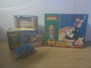 BRIO Bob the Builder Pilchard and the Pond 32827 & Lofty in the Shed 32826