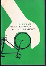 BICYCLE MAINTENANCE & ADJUSTMENT ROSPA MANUAL C1960'S 16 PAGES