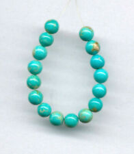 """MEXICAN TURQUOISE 4.8-5MM ROUND BEADS - 3"""" Strand - 2064"""
