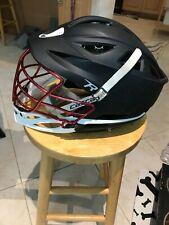 Mens Cascade Lacrosse Helmet Med Matte Black Brain Sentry