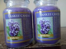 Yankee Candle   Lovely Lilac . Lot of 2 NEW 22 oz  Free Shipping.