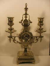 More details for c 1880 victorian aesthetic brass candle stick holder candelabra
