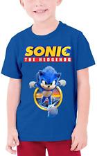 Sonic The Hedgehog Boy Youth T Shirt Cotton YXS-YXL Royal Blue