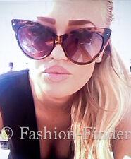 "Vintage ""BELLA"" Large Big Pin Up Cat Eye Mohotani Fashion Women Sunglasses L Top"