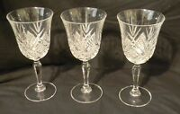3 Goblets Cristal D'Arques Durand Masquerade Clear Cut Crystal Water Wine