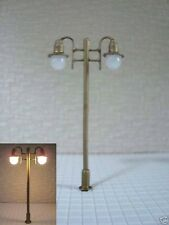 S107 - Set 10 Stück LED Lampen Straßenlampen 2-flammig 5,5cm nostalgisch 12-19V