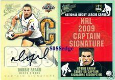2009 SELECT NRL CAPTAIN SIGNATURE: ROBBIE FARAH #32/50 REDEMPTION WEST TIGERS