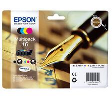 More details for genuin epson 16, multipack ink cartridges wf-2650dwf wf-2660dwf wf-2750dwf t1626