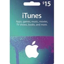 Apple iTunes USD Code Voucher Certificate Gift Card 15 Dollars US Key