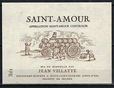 Etiquette de Vin - Beaujolais - Saint Amour - J.Villatte -  Réf.n°185