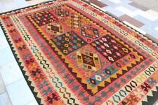 428134..Best Quality Hand Woven Lamb Wool Kilim..Size ..295.x 196..CM