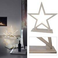 Stern Tischleuchte LED Deko Silhouette Boden Lampe Lucy Wood Sompex Holz 33cm