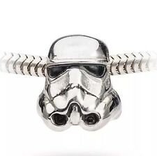 Star Wars Stormtrooper Stainless Steel Bead Charm Bracelet Necklace Disney NEW