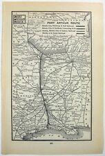 Original 1898 Railroad Map of the Port Arthur Route