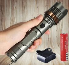 10000LM Tactical LED Flashlight Cree XML T6 Police Rechargeable +Battery+Charger