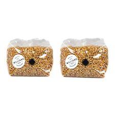 More details for 2 x 1kg premium sterilised rye grain bag | mushroom growing & spawn cultivation