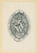 Ex Libris Bookplate for Charles de Sartorio 1898