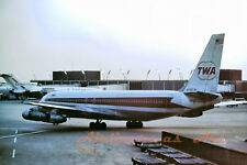 """TWA Boeing 707-131B N752TW at Sunset at ORD 1973 8""""x12"""" Color Print"""