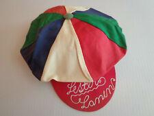 Vintage Lester Lanin multicolor novelty hat 15 inch diameter canvas Inv 2897