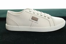 BNWB DOLCE & GABBANA CREAM TRAINER LEATHER CLASSIC SNEAKER SIZE UK 7 /EU 41