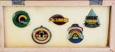 New RARE LOS ANGELES DODGERS 1963 WS Champs & RAMS 1959 - 1988 Lapel Pin Tac Set